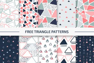 Free Triangle Patterns Vector Set in EPS + PSD