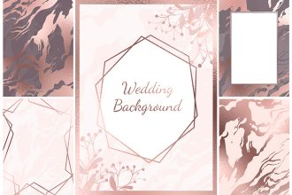 Free Wedding Background Set in PSD
