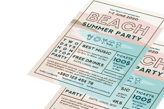 Free Beach Party Flyer Template in PSD + AI, EPS