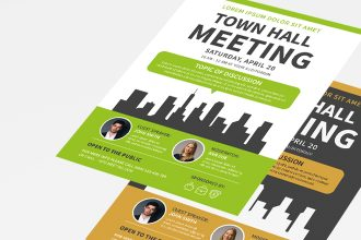 Free Meeting Flyers Template in PSD + AI