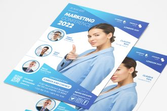 Free Marketing Flyer Template in PSD + AI