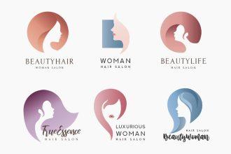 Free Hair Salon Logo Template in PSD, AI, EPS