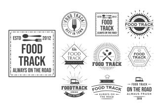 Free Logo Food Track Template in PSD, AI, EPS
