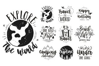 Free Travel Logo Set Template in PSD, AI, EPS