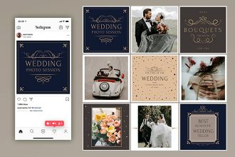 Free Instagram Wedding Banners Template in PSD