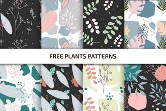 Free Plants Patterns Template in PSD + AI, EPS