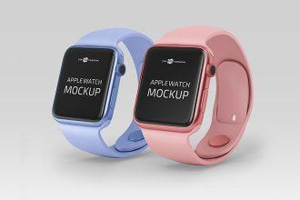Free PSD Apple Watch Mockup Templates