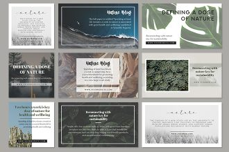Free Facebook and Instagram Nature Banners Template in PSD