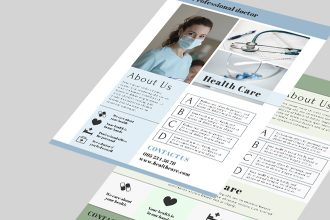 Free Health Care Flyer Template in PSD + AI, EPS