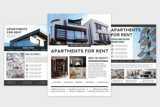 Free Apartments Flyer Template (PSD, AI, EPS)