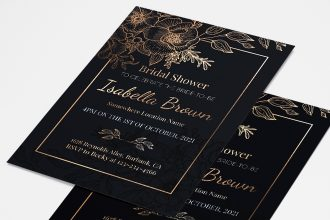 Free Bridal Shower Invitation Card Template in PSD