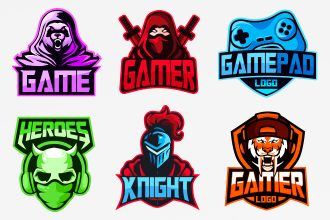 Free Gaming Logos Templates in EPS + PSD