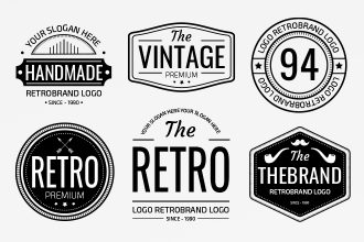Free Vintage Logo Templates in EPS + PSD