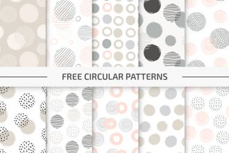 Free Circular Vector Pattern Set in EPS + PSD