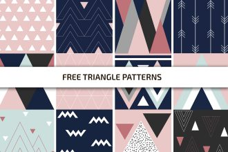 Free Triangle Patterns Template in PSD + AI, EPS