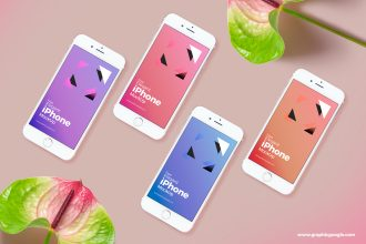 30+ Best Free iPhone Mockups in PSD