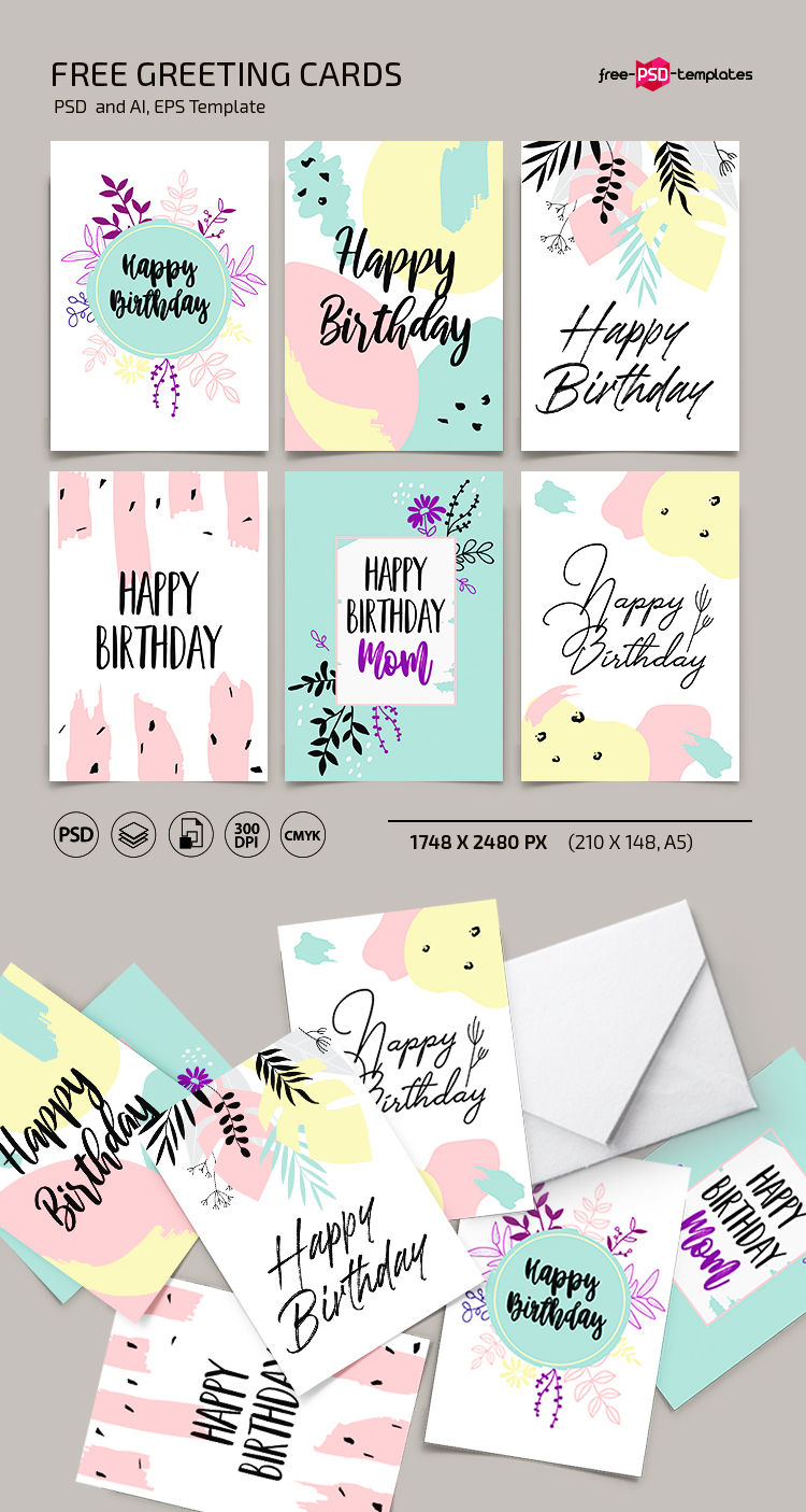 Free Greeting Card Template in PSD + AI, EPS | Free PSD ...