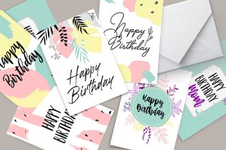 Free Greeting Card Template in PSD + AI, EPS