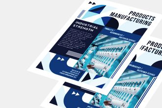 Free Manufacturing Flyer Template in PSD + AI + EPS