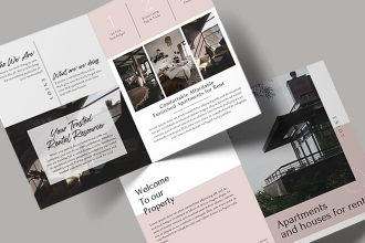Free Rental Bi-fold Brochure Template in PSD + AI