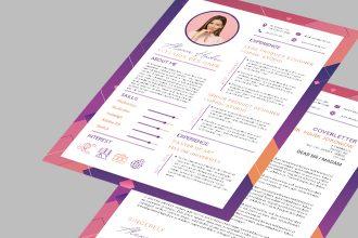 Free CV Resume Template in PSD + AI