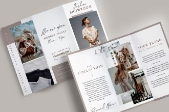 Free Fashion Tri-Fold Brochure Template in PSD