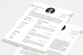 Free CV and Cover Letter Template v4 in PSD
