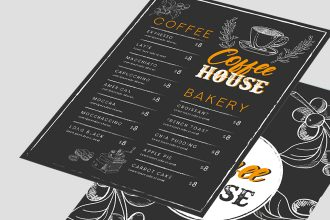 Free Coffee Menu Background Template in AI + PSD