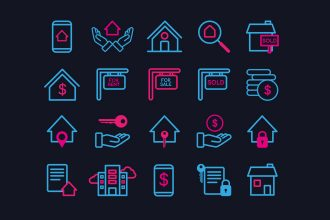 Free Real Estate Icons Template in PSD + AI, EPS