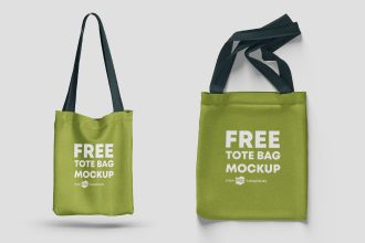 Free Tote Bag Mockups in PSD