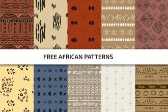 Free African Vector Patterns Set Template in PSD + AI, EPS