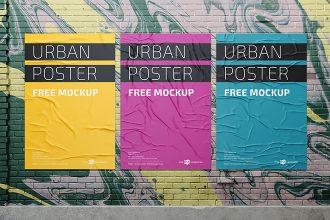 Free PSD Urban Poster Mockup Templates