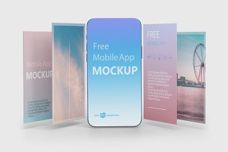 Free PSD Mobile App Mockup Templates