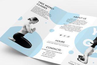 Free Yoga Tri-fold Brochure Template in PSD + EPS