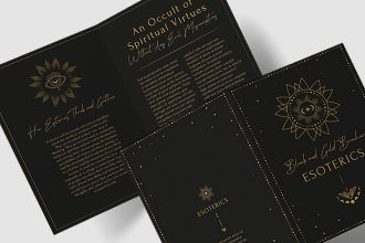 Free Esoteric brochure template (PSD, AI, EPS)
