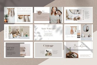 Free Organic Cosmetics Facebook Event Cover in PSD