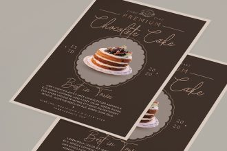 Free Cake Flyer Template in PSD + AI + EPS