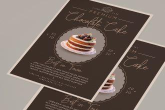 Free Cake Flyer Template (PSD, AI, EPS)