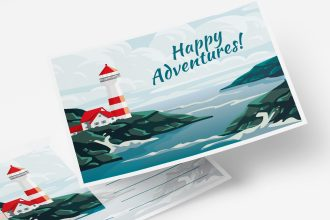 Free Adventures Postcard Templates in PSD + EPS