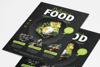 Free Catering Services Flyer Template in PSD + AI