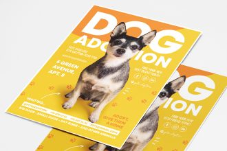 Free Dog Adoption Flyer Template in PSD + AI