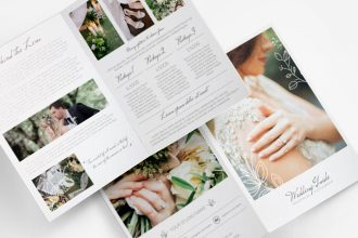 Free Wedding Photographer Bi-fold Brochure Template in PSD + EPS