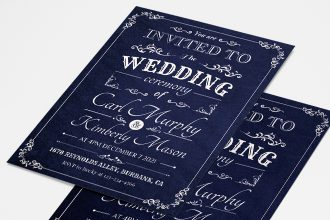 Free Wedding Invitation Card Template in PSD