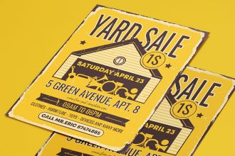 Free Yard Sale Flyer Template in PSD + AI