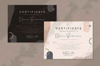 Free Certificate Diploma Template in PSD