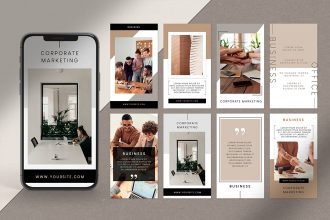 Free Business Stories Template in PSD