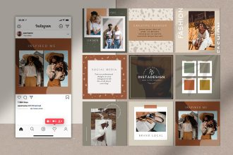 Free Instagram Blog Posts Template in PSD