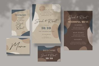 Free Wedding Invitation design Template in PSD