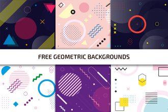 Free Geometric Background Template in AI