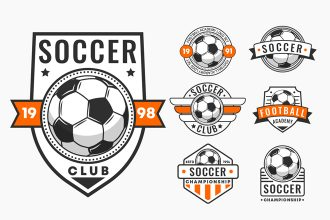 Free Soccer Logos Templates in EPS + PSD